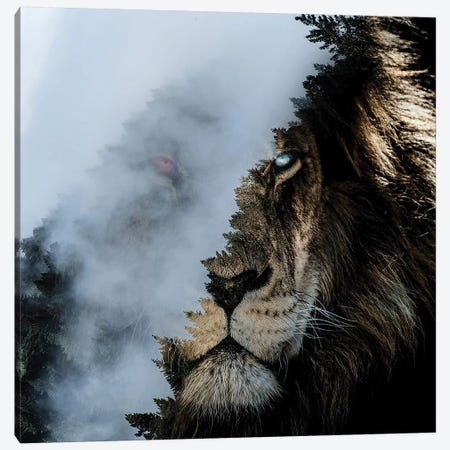 Monster Lion Canvas Print #PAH56} by Paul Haag Canvas Artwork