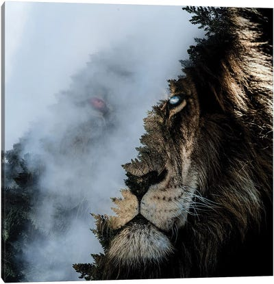 Monster Lion Canvas Art Print