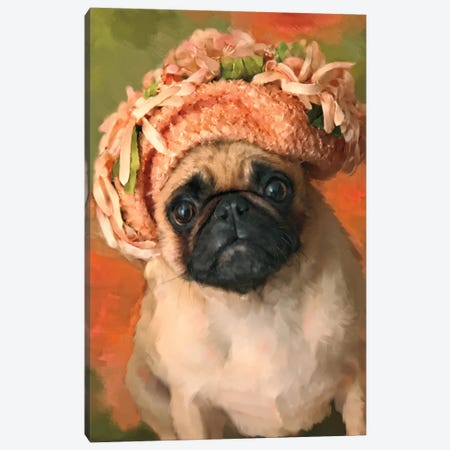 Ms. Pug Canvas Print #PAL12} by Janel Pahl Canvas Print