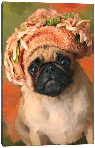 Ms. Pug Canvas Art Print
