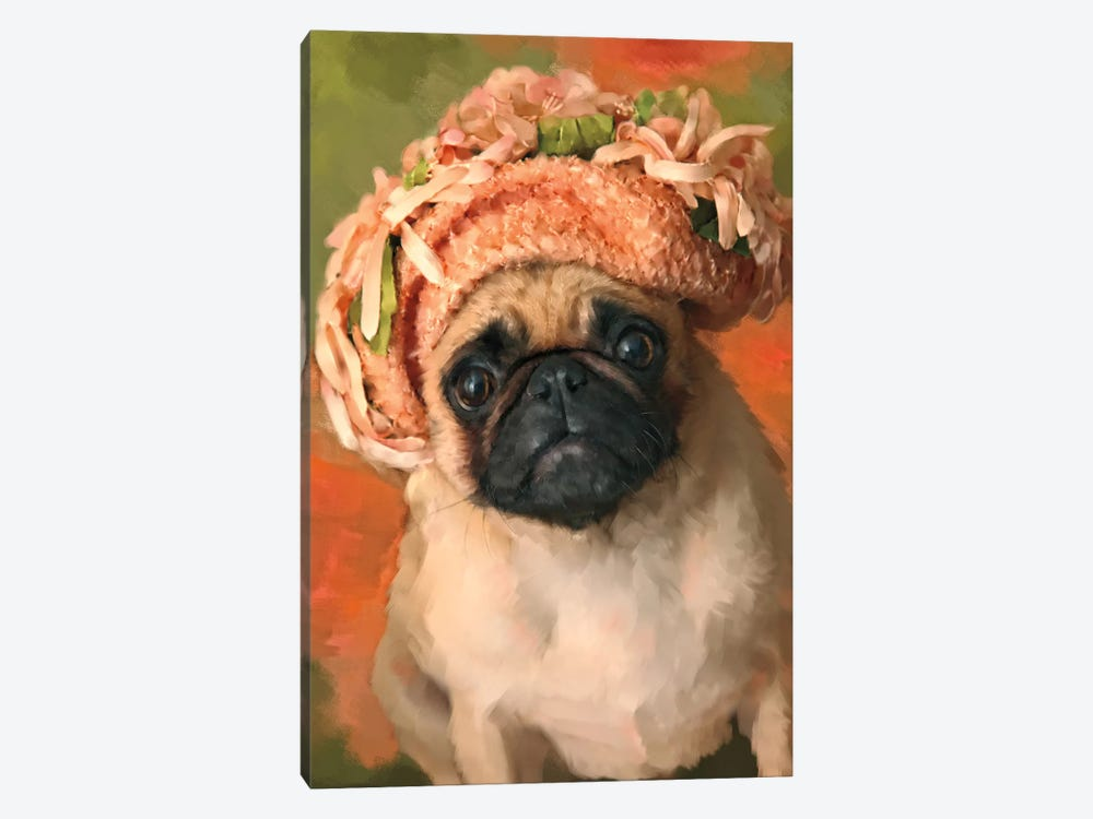 Ms. Pug by Janel Pahl 1-piece Canvas Print