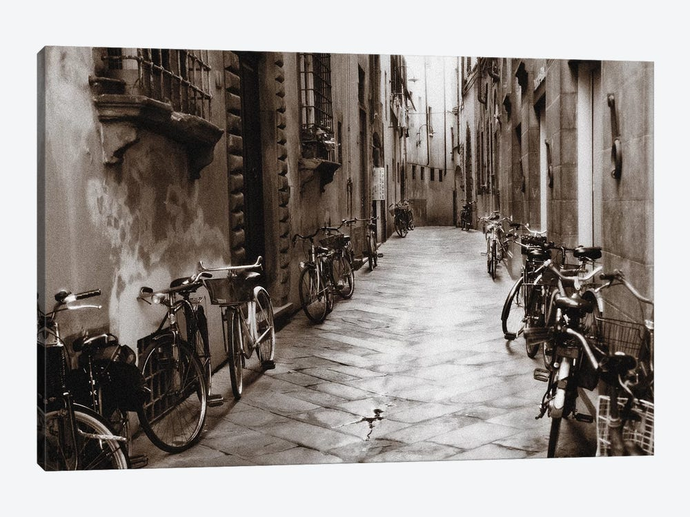 Lucca Bikes by Janel Pahl 1-piece Canvas Wall Art