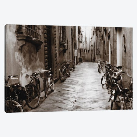 Lucca Bikes Canvas Print #PAL8} by Janel Pahl Canvas Art Print