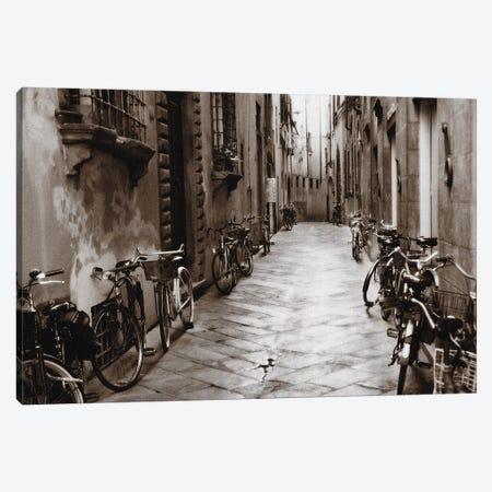 Lucca Bikes Canvas Print #PAL8} by Janel Pahl Canvas Art Print