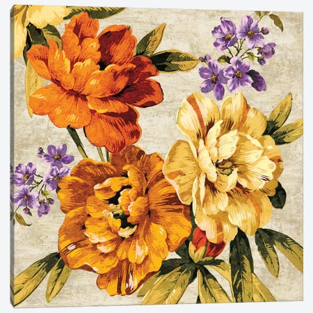 Brilliant Bloom I Canvas Print #PAM1} by Pamela Davis Canvas Artwork