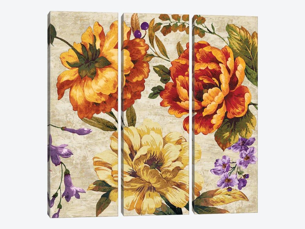 Brilliant Bloom II by Pamela Davis 3-piece Canvas Art Print