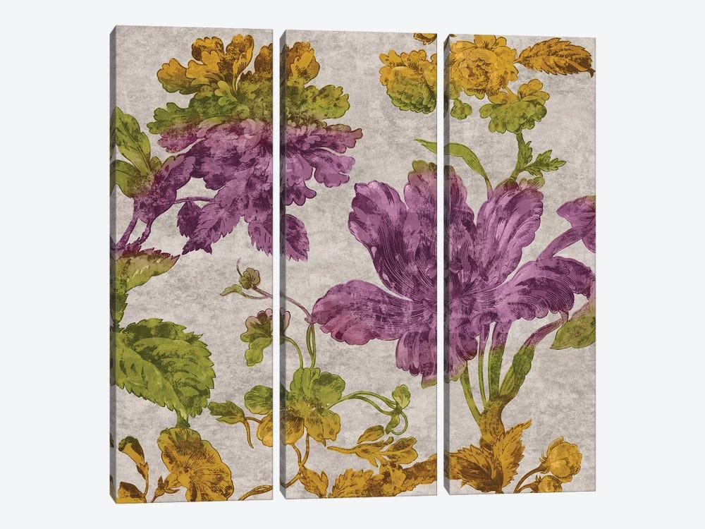 Full Bloom I by Pamela Davis 3-piece Canvas Print