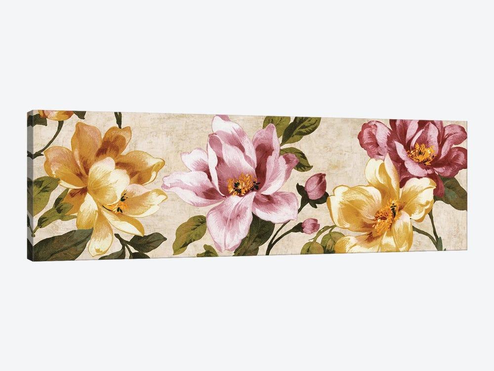 Pink Meets Yellow by Pamela Davis 1-piece Canvas Art Print