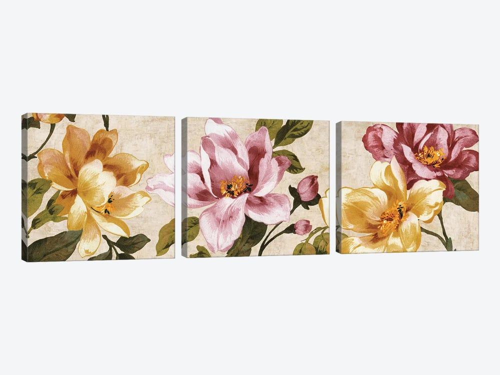 Pink Meets Yellow by Pamela Davis 3-piece Art Print