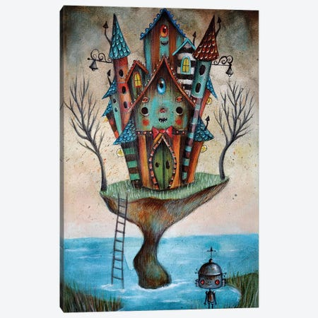 Monster House Canvas Print #PAO19} by Paolo Petrangeli Canvas Artwork