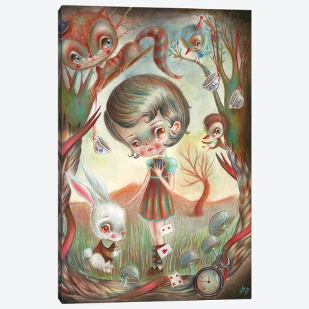 Alice In The Wonderland Canvas Print #PAO2} by Paolo Petrangeli Canvas Art
