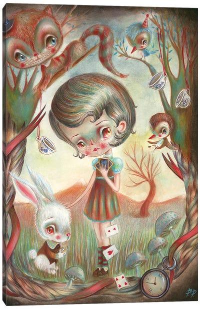 Alice In The Wonderland Canvas Art Print