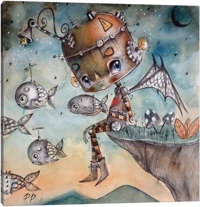Ti Insegno A Volare Canvas Art Print