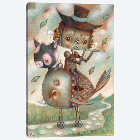 Viandants Canvas Print #PAO33} by Paolo Petrangeli Canvas Artwork