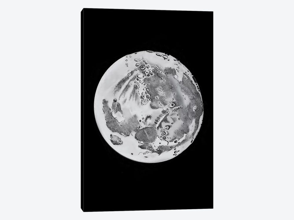 Phases Of The Moon VI by PatentPrintStore 1-piece Canvas Print