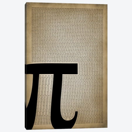 Pi Canvas Print #PAT107} by PatentPrintStore Canvas Wall Art