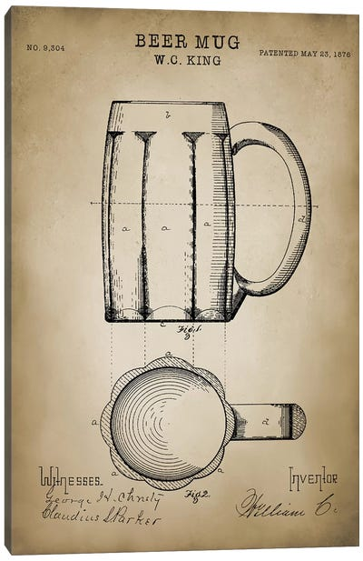 Beer Mug Canvas Art Print