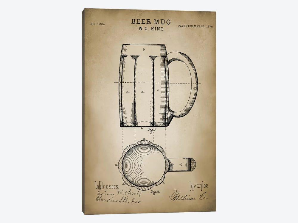 Beer Mug by PatentPrintStore 1-piece Art Print