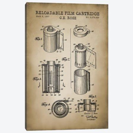 Reloadable Film Cartridge, Beige Canvas Print #PAT110} by PatentPrintStore Canvas Art