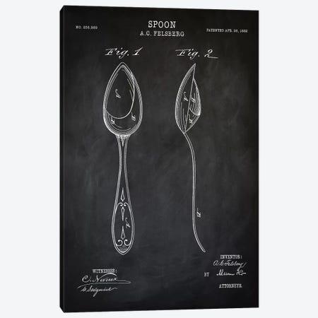 Spoon Canvas Print #PAT118} by PatentPrintStore Canvas Wall Art