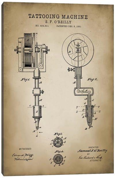 Tattoo Patent Canvas Art Print