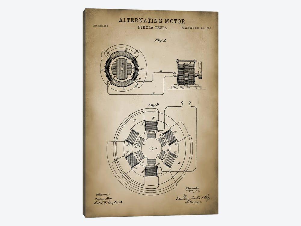 Tesla Alternating Motor by PatentPrintStore 1-piece Canvas Art