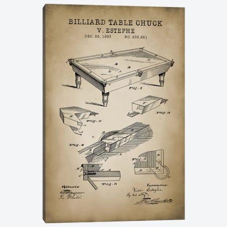Billiard I Canvas Print #PAT12} by PatentPrintStore Canvas Art Print
