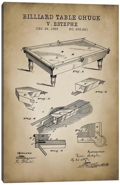 Billiard I Canvas Art Print