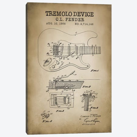 Tremolo Device Canvas Print #PAT136} by PatentPrintStore Canvas Art Print