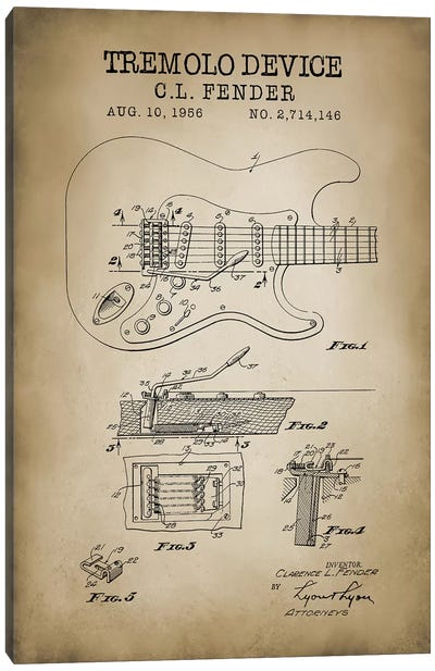 Tremolo Device Canvas Art Print