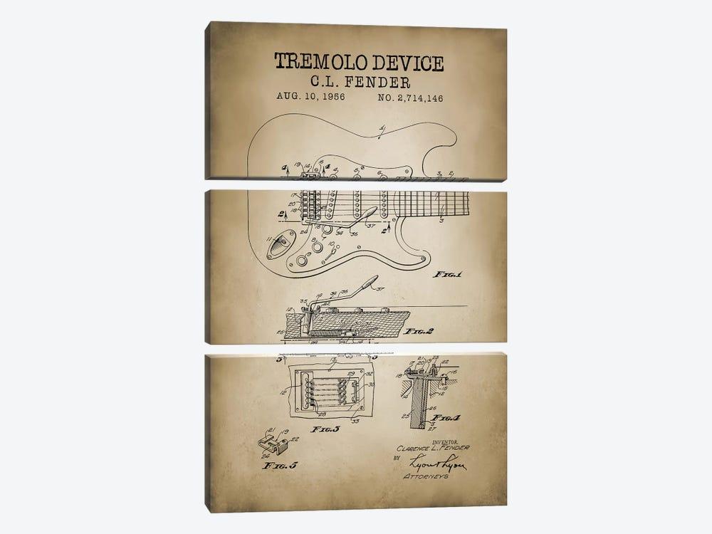 Tremolo Device by PatentPrintStore 3-piece Canvas Wall Art