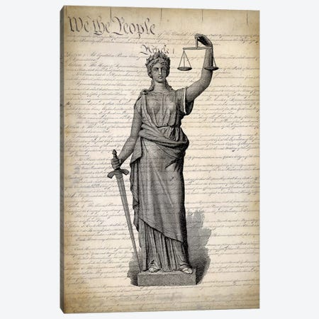 U.S. Constitution Canvas Print #PAT139} by PatentPrintStore Canvas Artwork