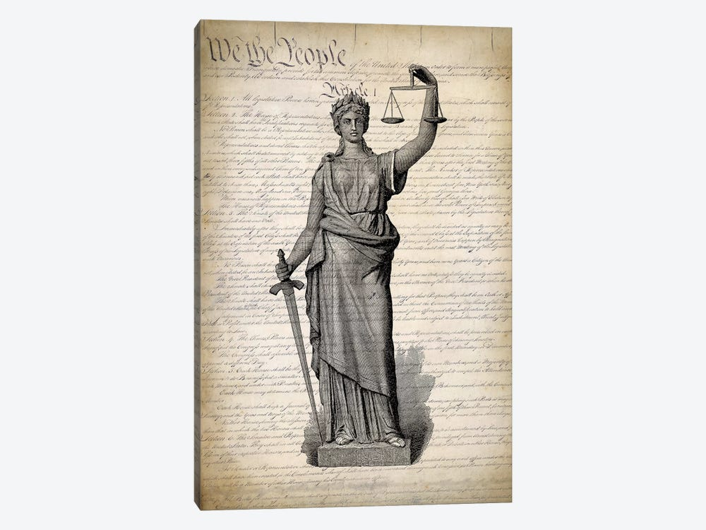 U.S. Constitution by PatentPrintStore 1-piece Canvas Print
