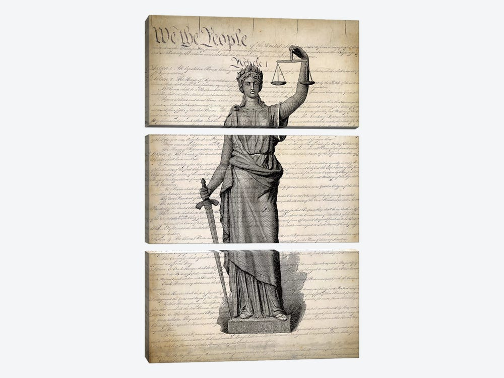 U.S. Constitution 3-piece Art Print