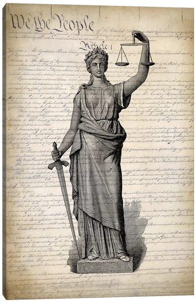 U.S. Constitution Canvas Art Print