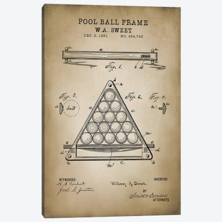 Billiard III Canvas Print #PAT13} by PatentPrintStore Canvas Print