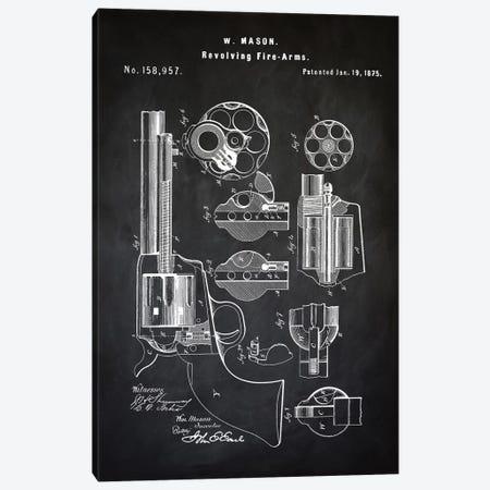 W. Mason Revolver I Canvas Print #PAT140} by PatentPrintStore Canvas Art Print