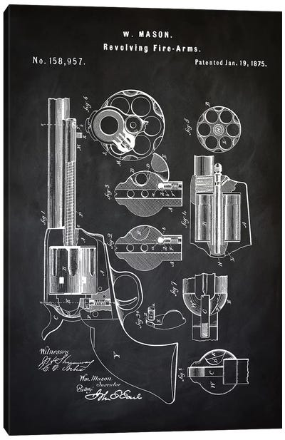 W. Mason Revolver I Canvas Art Print