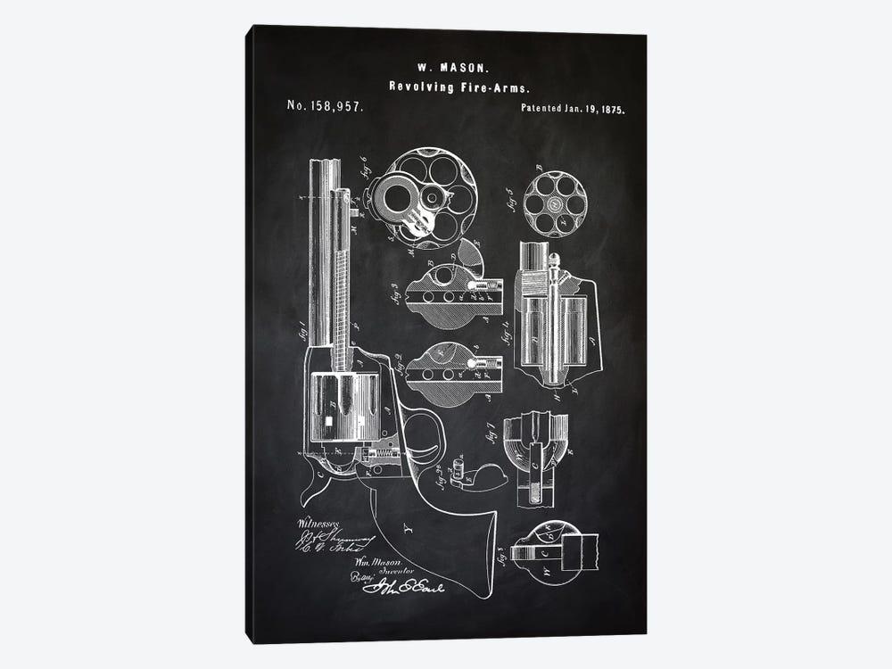 W. Mason Revolver I by PatentPrintStore 1-piece Canvas Print