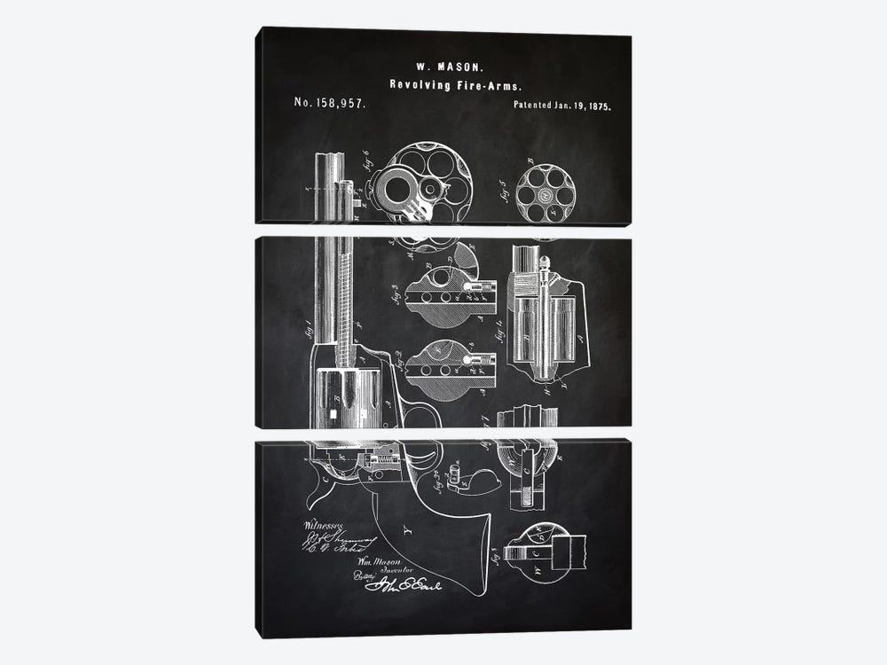 W. Mason Revolver I by PatentPrintStore 3-piece Art Print
