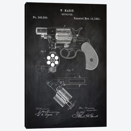 W. Mason Revolver II Canvas Print #PAT141} by PatentPrintStore Art Print