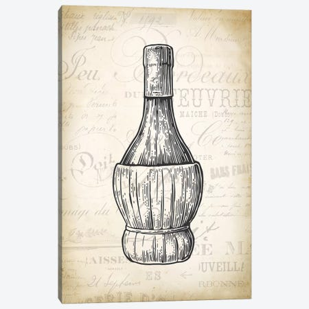 Wine Bottle Canvas Print #PAT145} by PatentPrintStore Canvas Art