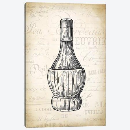 Wine Bottle Canvas Print #PAT145} by PatentPrintStore Canvas Art