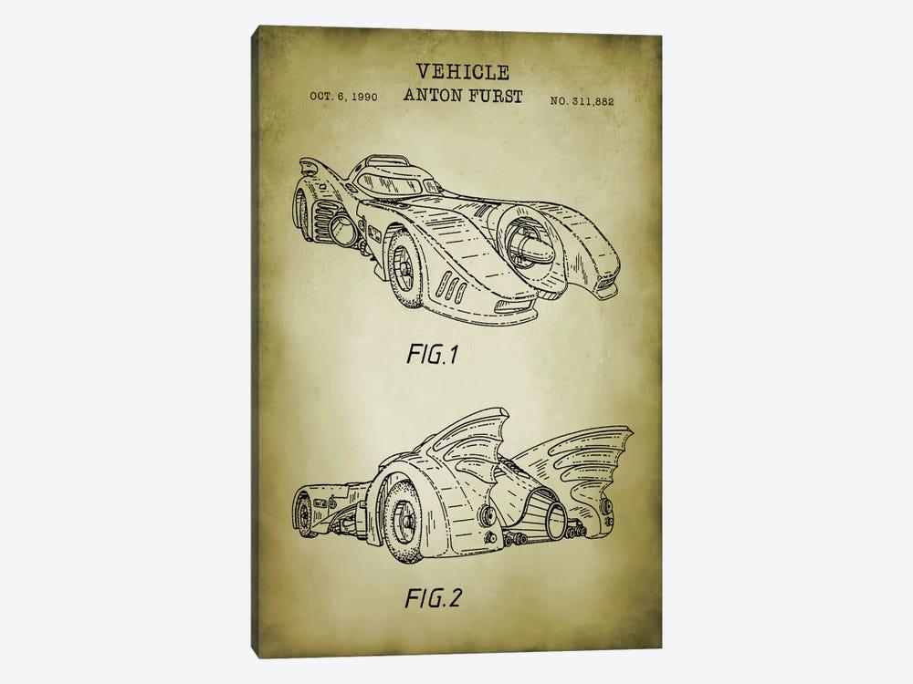 Batmobile by PatentPrintStore 1-piece Art Print