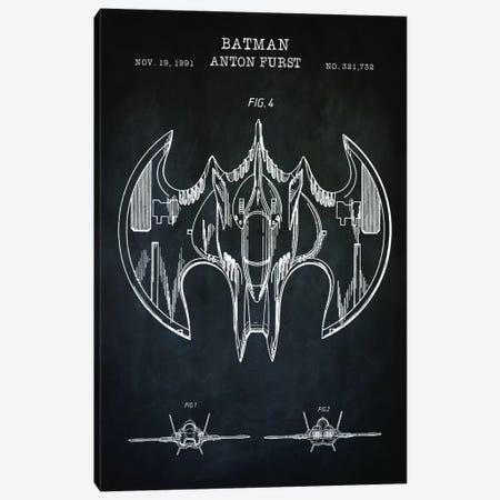 Batwing, Black Canvas Print #PAT149} by PatentPrintStore Canvas Print
