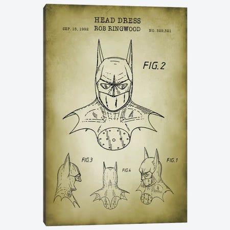 Batman Cowl Canvas Print #PAT150} by PatentPrintStore Canvas Artwork