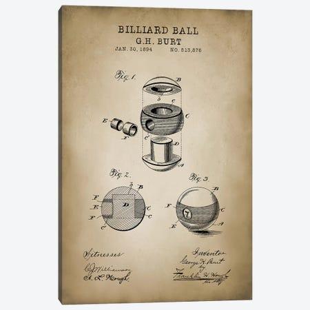 Billiard V Canvas Print #PAT15} by PatentPrintStore Canvas Art