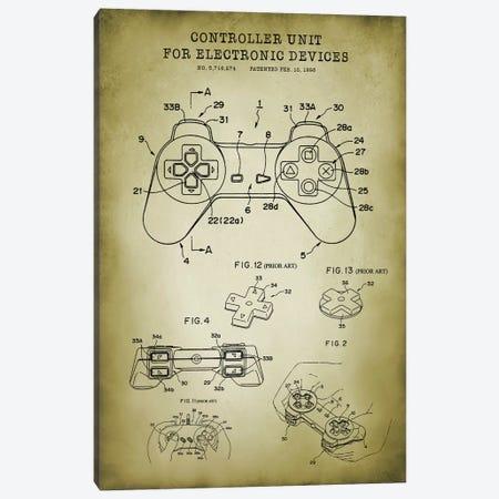 PlayStation Canvas Print #PAT171} by PatentPrintStore Canvas Artwork