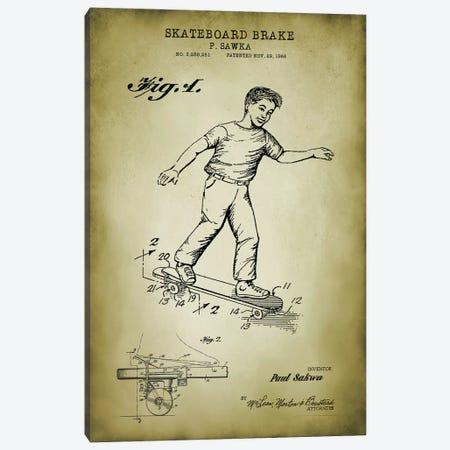 Skateboard Brake Canvas Print #PAT172} by PatentPrintStore Canvas Art