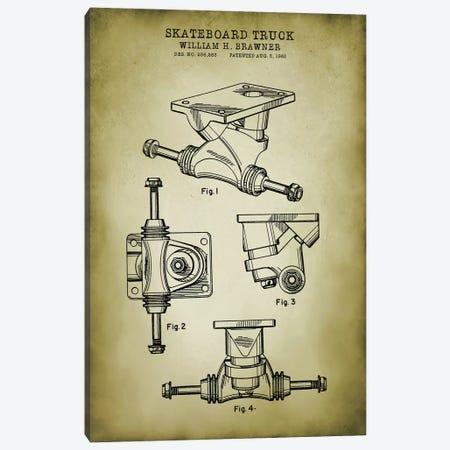 Skateboard Truck Canvas Print #PAT178} by PatentPrintStore Canvas Art